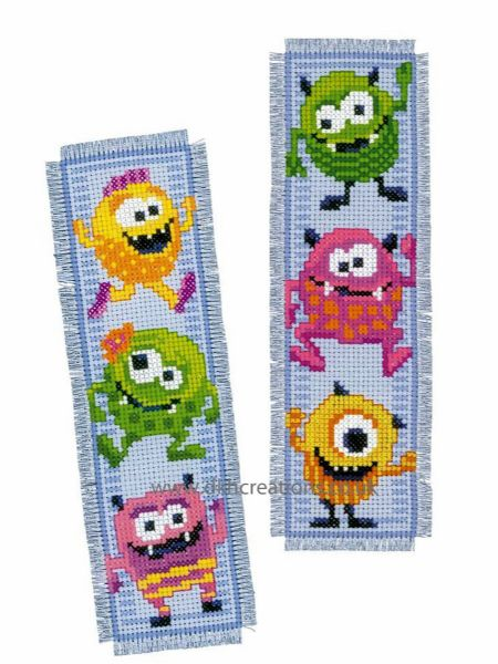 Little Monsters Bookmarks Cross Stitch Kit